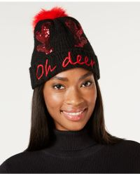 Charter Club - Oh Deer Sequined Beanie, Created For Macy's - Lyst