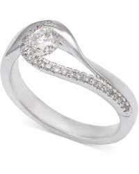 Macy's - Diamond Asymmetric Engagement Ring (1/2 Ct. T.w.) In 14k White Gold - Lyst