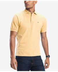 b8c55285 Lyst - Tommy Hilfiger Kelson Stripe Polo in Yellow for Men