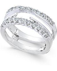 Macy's - Diamond Enhancer Ring Guard (3/4 Ct. T.w.) In 14k White Gold - Lyst