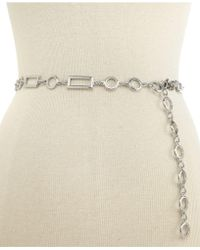 INC International Concepts - Style&co. Rectangles And Circles Chain Belt - Lyst