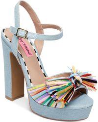 Betsey Johnson - Mandy Dress Sandals - Lyst