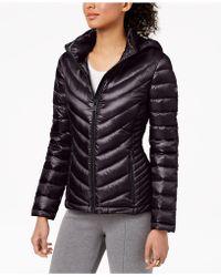 Calvin Klein - Hooded Packable Puffer Coat - Lyst