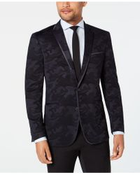 Kenneth Cole Reaction - Slim-fit Navy Tonal Camouflage Evening Jacket - Lyst