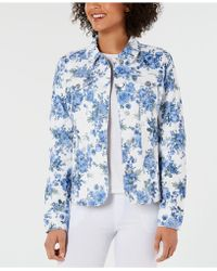 Charter Club - Petite Floral Denim Jacket, Created For Macy's - Lyst