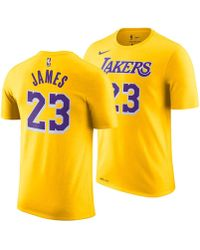 Nike - Lebron James Los Angeles Lakers Icon Player T-shirt - Lyst