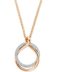 Swarovski - Pavé Intertwined Rings Pendant Necklace - Lyst