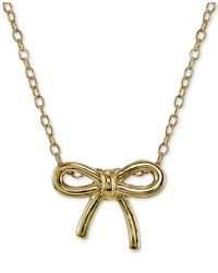 Giani Bernini - Bow Pendant Necklace In 18k Gold-plated Sterling Silver - Lyst