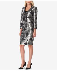 Tahari - Floral Jacquard Skirt Suit - Lyst