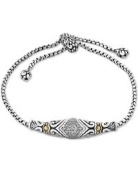 Effy Collection - Balissima By Effy® Diamond Slider Bracelet (1/8 Ct. T.w.)in Sterling Silver & 18k Gold - Lyst
