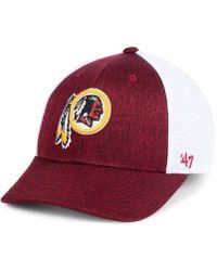 9e1b17553 47 Brand - Washington Redskins Hazy Flex Contender Stretch Fitted Cap - Lyst