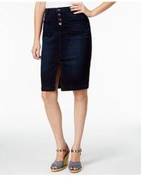Lee Platinum - Petite Willow Denim Pencil Skirt - Lyst