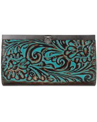 Patricia Nash - Tooled Turquoise Collection Cauchy Floral-embossed Wallet - Lyst