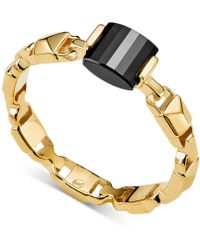 Michael Kors - Mercer Link Semi-precious Sterling Silver Ring In 14k Gold-plated Sterling Silver Or Solid Sterling Silver - Lyst