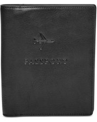 Fossil - Men's Leather Embossed Passport Case - Lyst