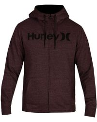 Hurley - Bayside Sherpa-lined Zip-front Hoodie - Lyst