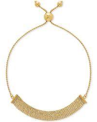 Macy's - Multi-bead Bolo Bracelet In 10k Gold - Lyst