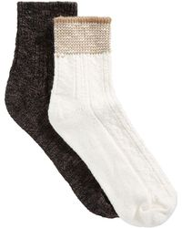 Hue - 2-pk. Striped Shortie Boot Socks - Lyst
