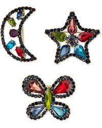 INC International Concepts - Gold-tone 3-pc. Set Rainbow Crystal Pins - Lyst