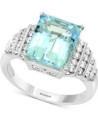 Effy Collection - Effy® Aquamarine (3-9/10 Ct. T.w.) & Diamond (3/8 Ct. T.w.) Ring In 14k White Gold - Lyst