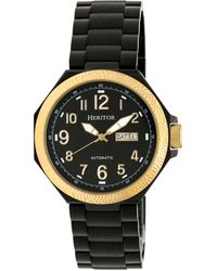 Heritor - Automatic Spartacus Gold & Black Stainless Steel Watches 45mm - Lyst