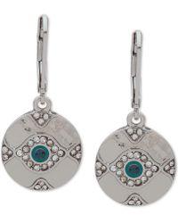 Lonna & Lilly - Silver-tone Crystal Evil Eye Drop Earrings - Lyst