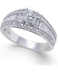 Macy's - Diamond Baguette Engagement Ring (1 Ct. T.w.) In 14k White Gold - Lyst