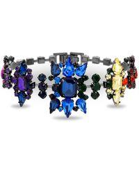 Steve Madden - Rainbow Casted Stone Link Bracelet - Lyst