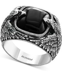 Effy Collection | Men's Onyx Eagle Ring (10 Ct. T.w.) In Sterling Silver | Lyst