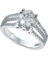 Effy Collection - Bouquet By Effy Diamond Engagement Ring In 14k White Gold (9/10 Ct. T.w.) - Lyst