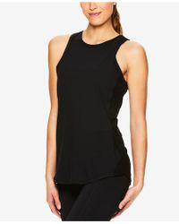 65f6e3bcd7 Lyst - Gaiam Graphic Keyhole-back Tank Top in Black