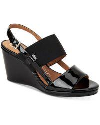 Calvin Klein - Bethan Wedge Sandals - Lyst