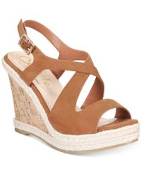 Callisto - Brielle Espadrille Platform Wedge Sandals - Lyst