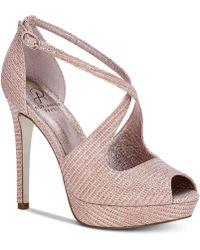 Adrianna Papell - Rosalie Platform Evening Sandals - Lyst