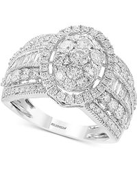 Effy Collection - Classique By Effy® Diamond Oval Cluster Ring (2 Ct. T.w.) In 14k White Gold - Lyst