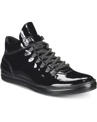 Kenneth Cole Reaction - Brand Tour Patent Leather Sneakers - Lyst