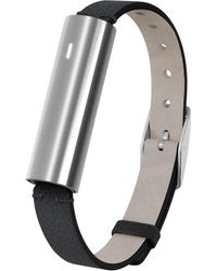 Misfit - Unisex Ray Black Leather Band Activity Tracker 12x38mm Mis1003 - Lyst