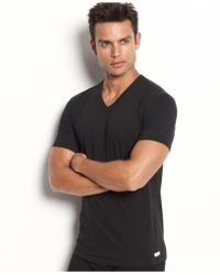 CALVIN KLEIN 205W39NYC - Men's Stretch-cotton V-neck T-shirt 2-pack - Lyst