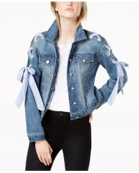 Maison Jules - Lace-up Denim Jacket, Created For Macy's - Lyst