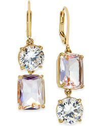 Kate Spade - Gold-tone Crystal Mismatch Earrings - Lyst