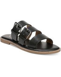 Franco Sarto - Kasa Strappy Slip-on Flat Sandals - Lyst