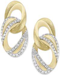 Effy Collection - Diamond Link Drop Earrings (1/4 Ct. T.w.) In 14k Gold - Lyst