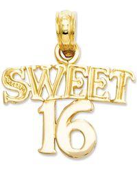 Macy's - 14k Gold Charm, Sweet 16 Charm - Lyst