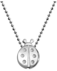 Alex Woo - Little Faith Ladybug Pendant Necklace In Sterling Silver - Lyst