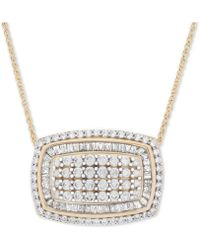 """Wrapped in Love - Tm Diamond Cluster 18"""" Pendant Necklace (2 Ct. T.w.) In 14k Gold - Lyst"""