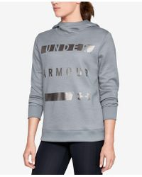 d627b3920d2 Lyst - Under Armour Women s Ua Armour® Fleece Textured Hoodie in Black