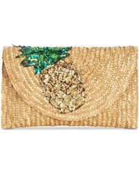 Betsey Johnson - Straw Clutch - Lyst