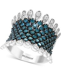 Effy Collection - Belle Bleu By Effy® Diamond Statement Ring (1-3/4 Ct. T.w.) In 14k White Gold - Lyst