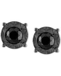 Macy's - Black Diamond (1/2 Ct. T.w.) Stud Earrings In Sterling Silver - Lyst