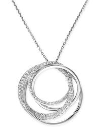 Effy Collection | Diamond Circle Pendant Necklace (3/8 Ct. T.w.) In 14k White Gold | Lyst